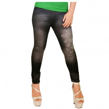 butterfly printed Jeggings Seamless WLSJ-002