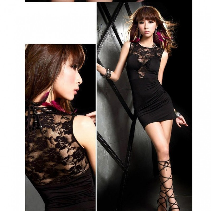 Sexy Sleeveless Mini Party wear dress with U shape 3200 BBD-007