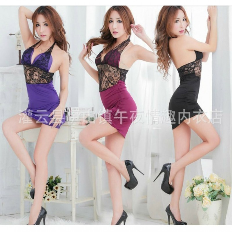 Halter padded netted waist revealing sexy babydoll 2700 BBD-010