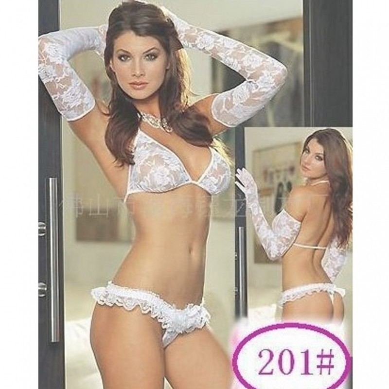 sexy white bridal lace transparent lingerie micro 2700 BBD-031